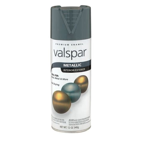shop valspar 12 oz metallic silver spray paint at lowes