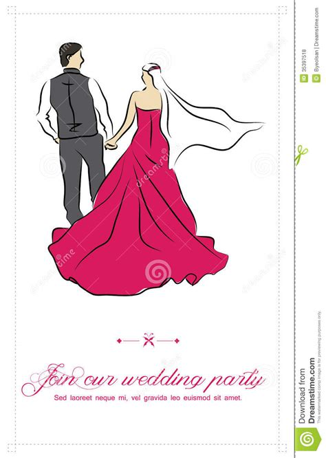 wedding invitations caricature drawings wedding invitation royalty free stock photos image 35397518