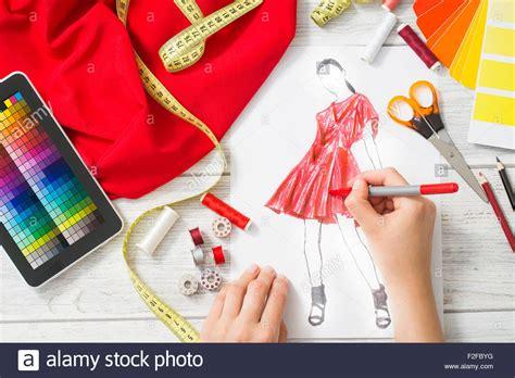 design fashion how to fashion designer working in studio close up design stock