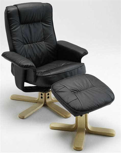 leather recliner  footstool home decorators collection black leather reclining chair