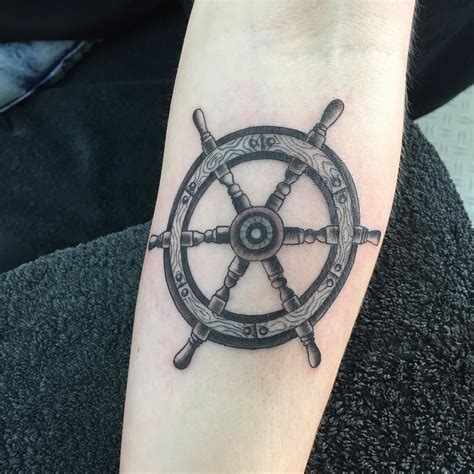 wheel tattoo neat ships wheel nauticaltattoo shipswheeltattoo