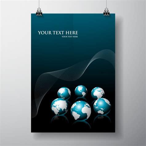 mock up your design here poster mock up design vector free download