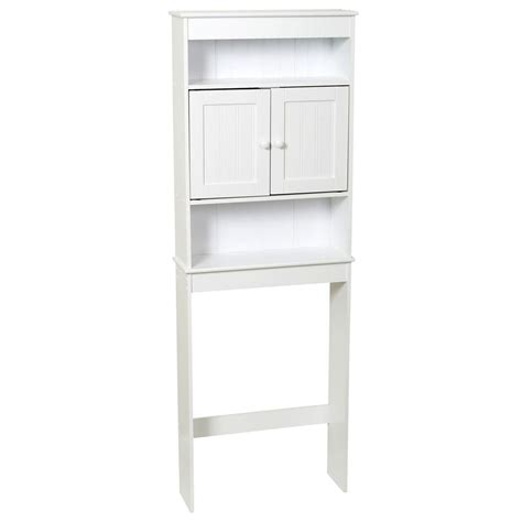 white over the toilet cabinet zenna home 23 1 4 in w x 66 1 2 in h x 7 1 2 in d 3
