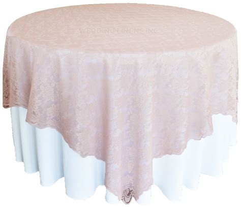 blush pink lace table overlay toppers wedding 72 quot