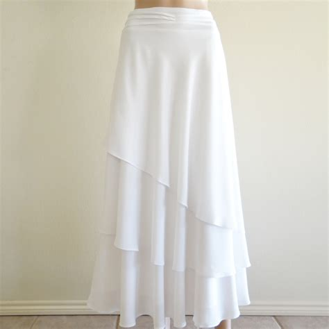 white skirt white maxi skirt evening skirt