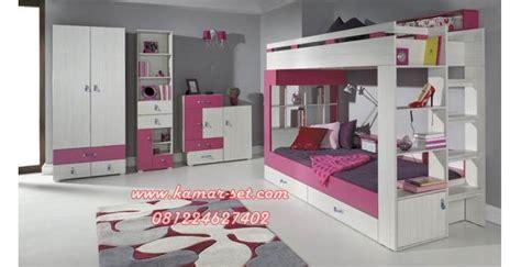 Kasur Anak Tingkat Perempuan set tempat tidur tingkat lengkap anak perempuan kamar