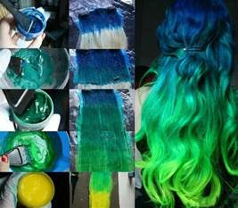 blue green hair color blue to green hair ombre colored hair