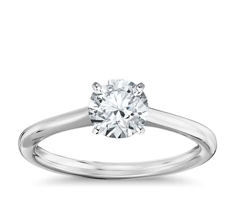 White Gold Engagement Rings by Solitaire Engagement Ring In 14k White Gold Blue Nile