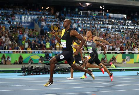 to the olympics usain bolt celebrates gold medal by throwing a javelin
