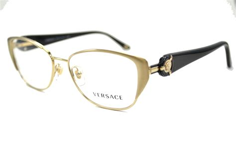 versace eyeglasses ve 1196 1252 brushed pale gold 51mm ebay