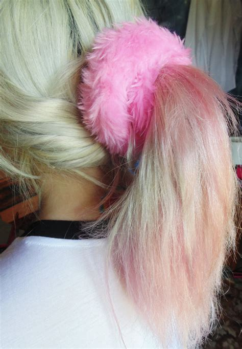 how to control fuzzy fluffy chemo hair styles clueless fuzzy scrunchies pink scrunchie fluffy hair by