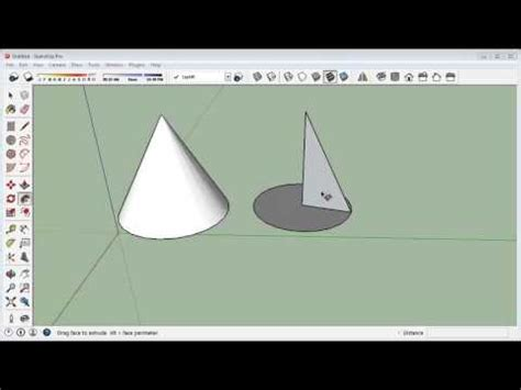 google sketchup cone tutorial sketchup drawing a cone point and flat doovi