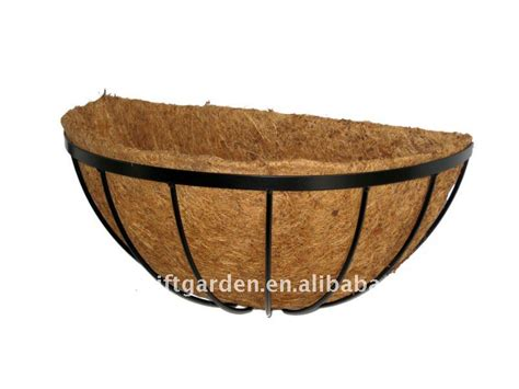 flat wire wall basket planter buy coco wire