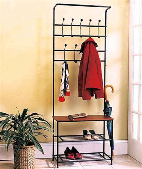 entryway storage rack with bench coat rack and shoe bench tradingbasis