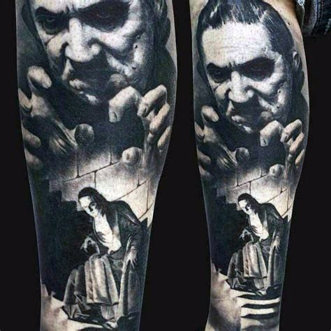 40 dracula tattoo designs for men blood vampire