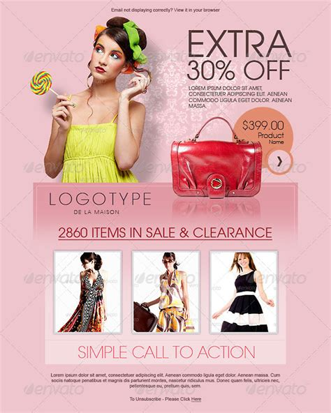 fashion newsletter templates promotional fashion e newsletter template graphicriver