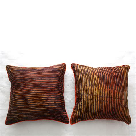 Cushions For Brown by Brown And Burnt Orange Batik Cushions
