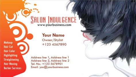 hairstyles business card how to make one photoshop business cards beauty salon