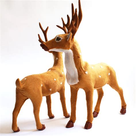 christmas artificial reindeer decoration new year santa