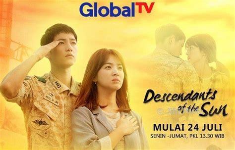 film korea di global tv drama korea besok descendants of the sun tayang ulang