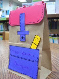 Arts And Crafts With Paper Bags - 25 best ideas about backpack craft on