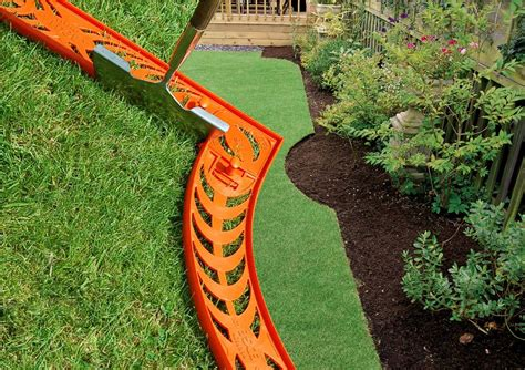 how to install landscape edging front yard
