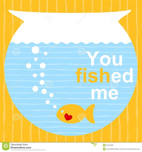 valentines day fish fish on a bowl valentines day card royalty free stock