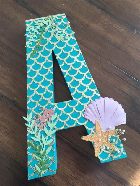 Paper Mache Craft Letters - 25 best ideas about mermaid nursery on