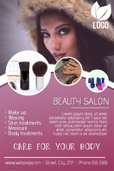salon tarpaulin layout beauty salon flyer template postermywall