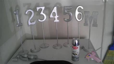 table number stands hobby lobby diy table numbers weddingbee photo gallery