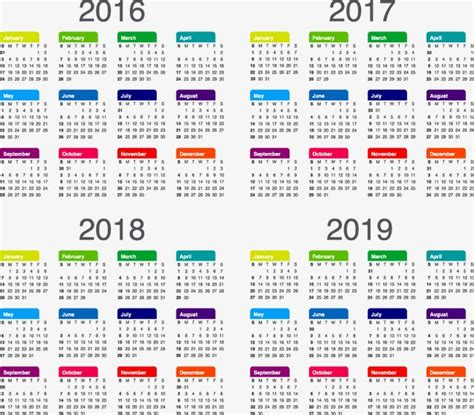 Cool Technology by Calendar 2017 2018 2019 Png And Vector For Free Download