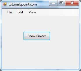 tutorialspoint visual basic vb net stripmenuitem control