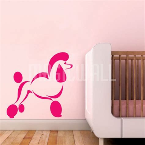 puppy wall stickers wall decals poodle wall stickers