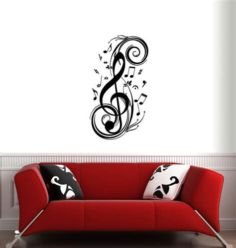 music couch big music notes ver 2 wall decals