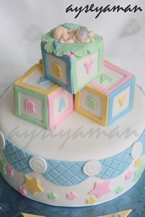 Baby Shower Cakes With Blocks 13 baby shower cakes designs