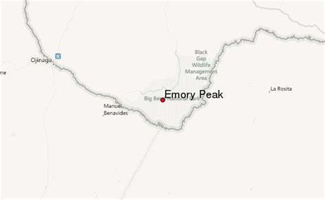 emory texas map emory peak mountain information
