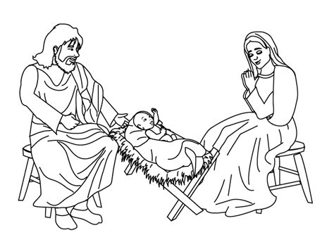 kids pages mary joseph and jesus
