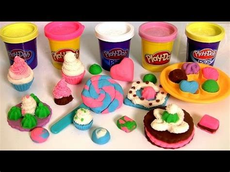 Play Doh Colorful Cookies Sweet Shoppe play doh colorful box sweet shoppe how to make lollipops cookies cupcakes by funtoys