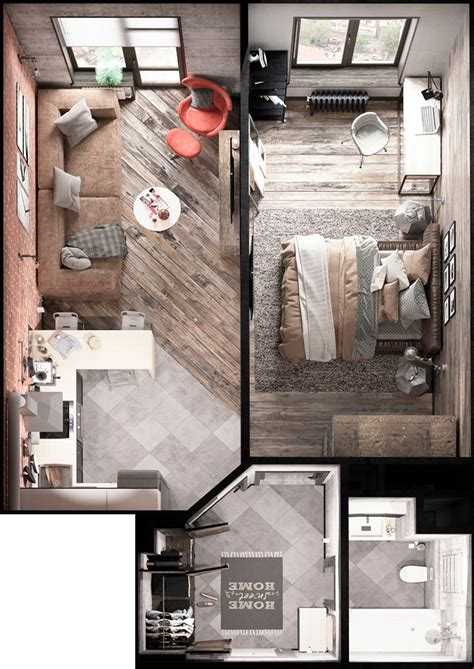 small space lessons floorplan solutions from daniel s bold decor in small spaces 3 homes under 50 square