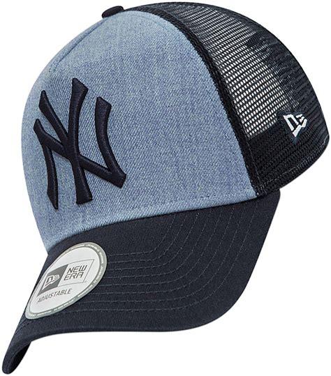 era net new era heather trucker ny yankees cap blau im weare shop
