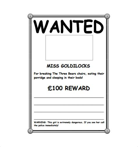 printable poster download wanted poster template free www pixshark com images