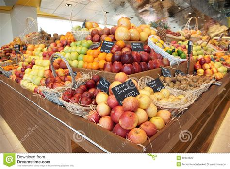 Shelf Of Fruit by Shelf With Fruits Royalty Free Stock Images Image 19131629