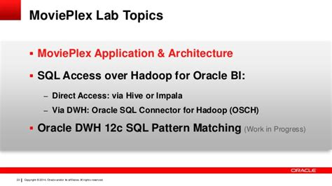pattern matching hadoop oracle unified information architeture analytics by exle