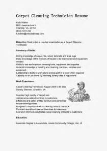 Carpet Technician Cover Letter resume sles carpet cleaning technician resume sle