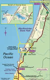 California State Park Map by Harbor Seals At Mackerricher State Park California