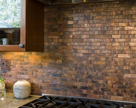 copper backsplash tiles kitchen surfaces