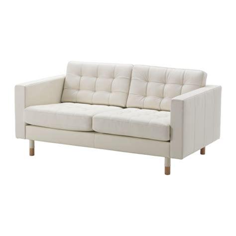 landskrona two seat sofa grann bomstad white wood ikea