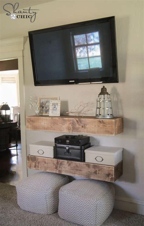 Diy Tv Shelf by Diy Media Shelves Shanty 2 Chic