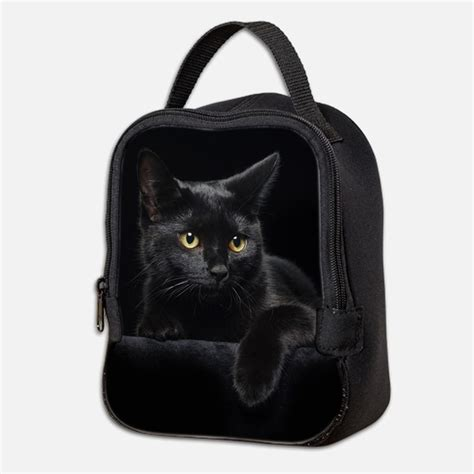Cat Bag black cat lunch bags totes insulated neoprene lunch bags