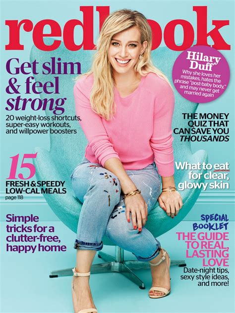 Win Hilary Duffs Cover Look by Hilary Duff Redbook Magazine February 2016 Photoshoot